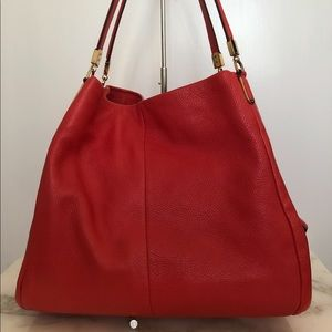 Coach Dalton Red Leather Bag